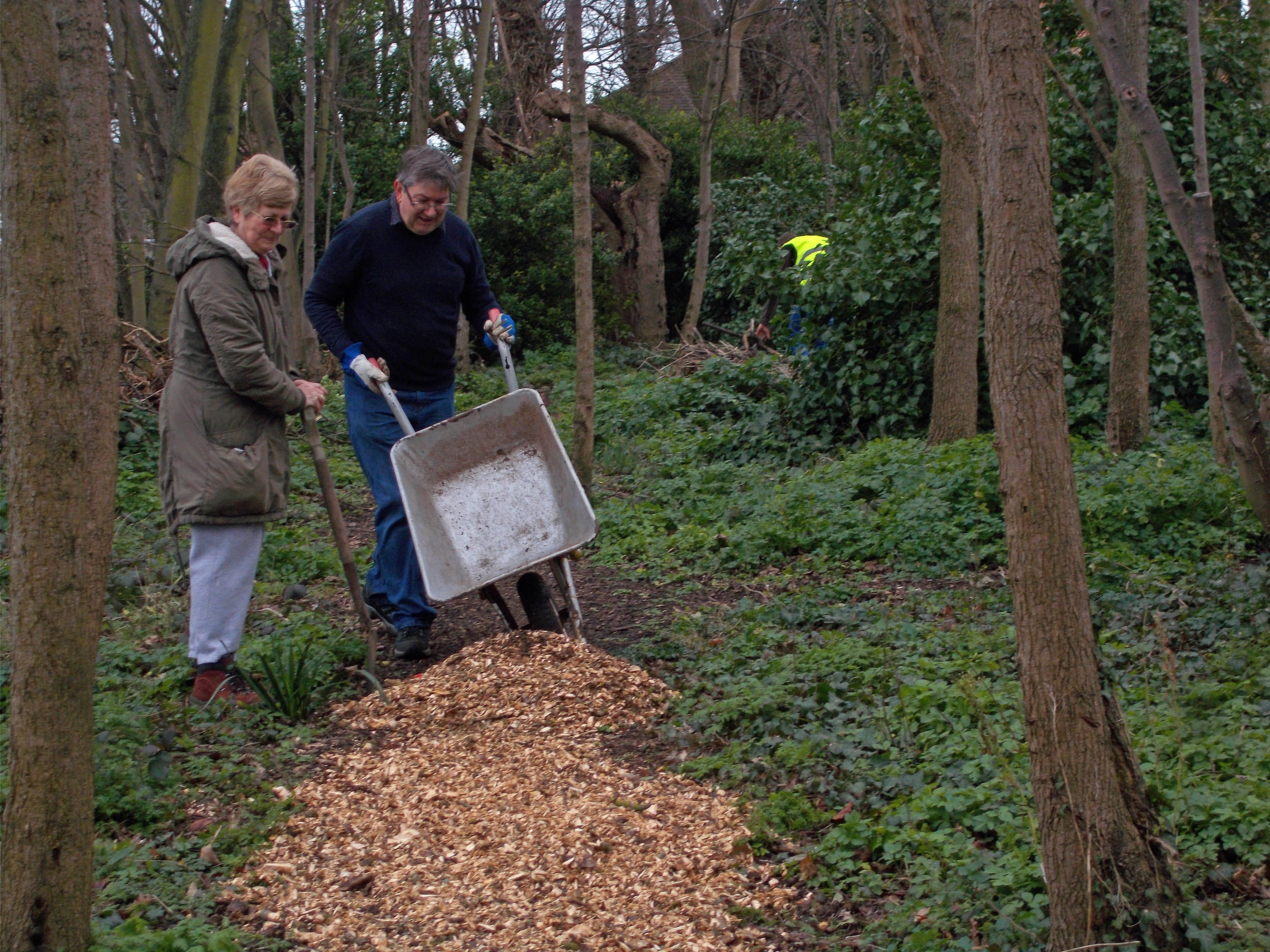 March 2017 work party - chippings