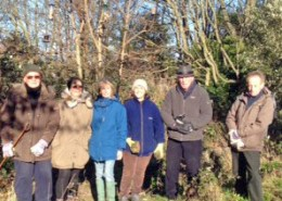 The hardy team who were spotting the birds within the woodland on 28th January, 2017