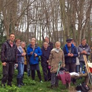 Record number - 16 volunteers attend April 2019 work party